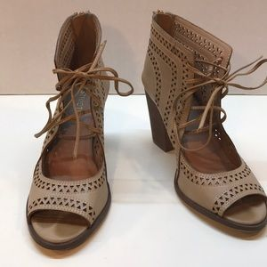 Restricted Perforated OpenToe Booties Size 7